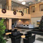Displayco Holiday Tree, Wreath, Garland Lobby