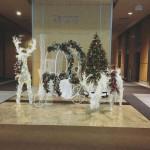 Seasonal Deer Carriage Tree Display