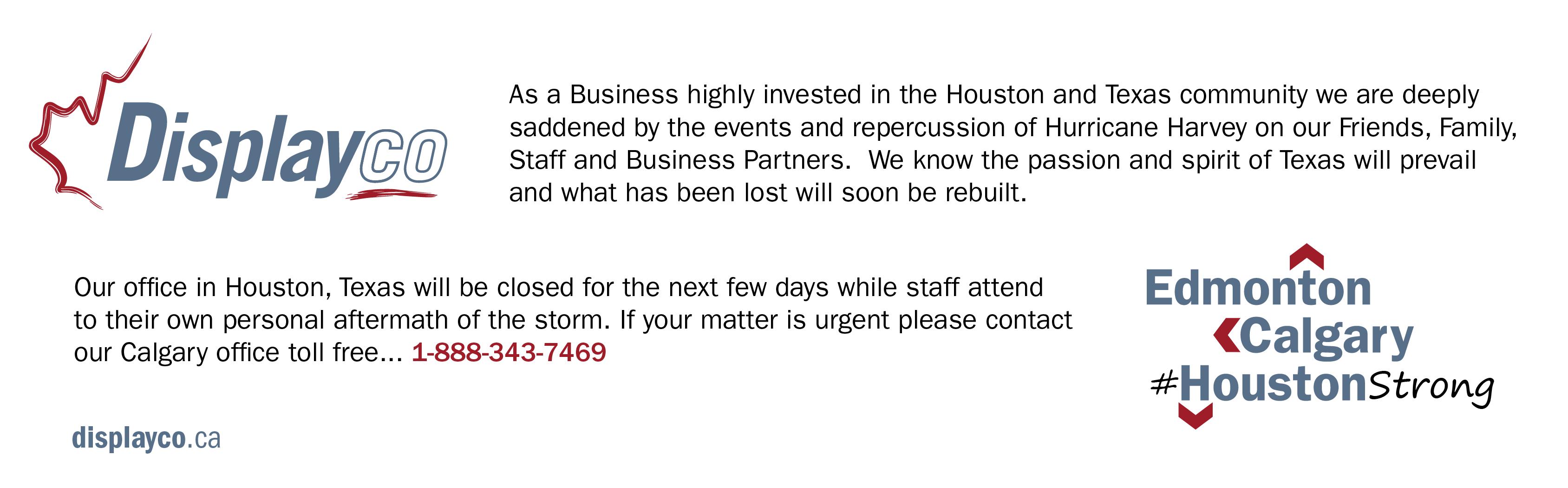 Displayco - Houston Hurricane Harvey