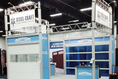 Octanorm Modular Tradeshow Exhibit - Steelcraft Doors